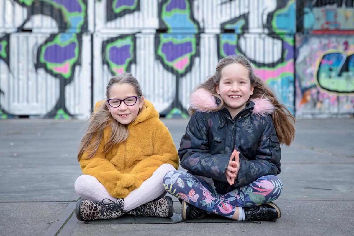 tweeling meisjes NDSM Werf|GrryFotografie|Amsterdam Noord